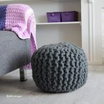 Hobbydingen.com - Knitted Pouf - Yarn and Colors