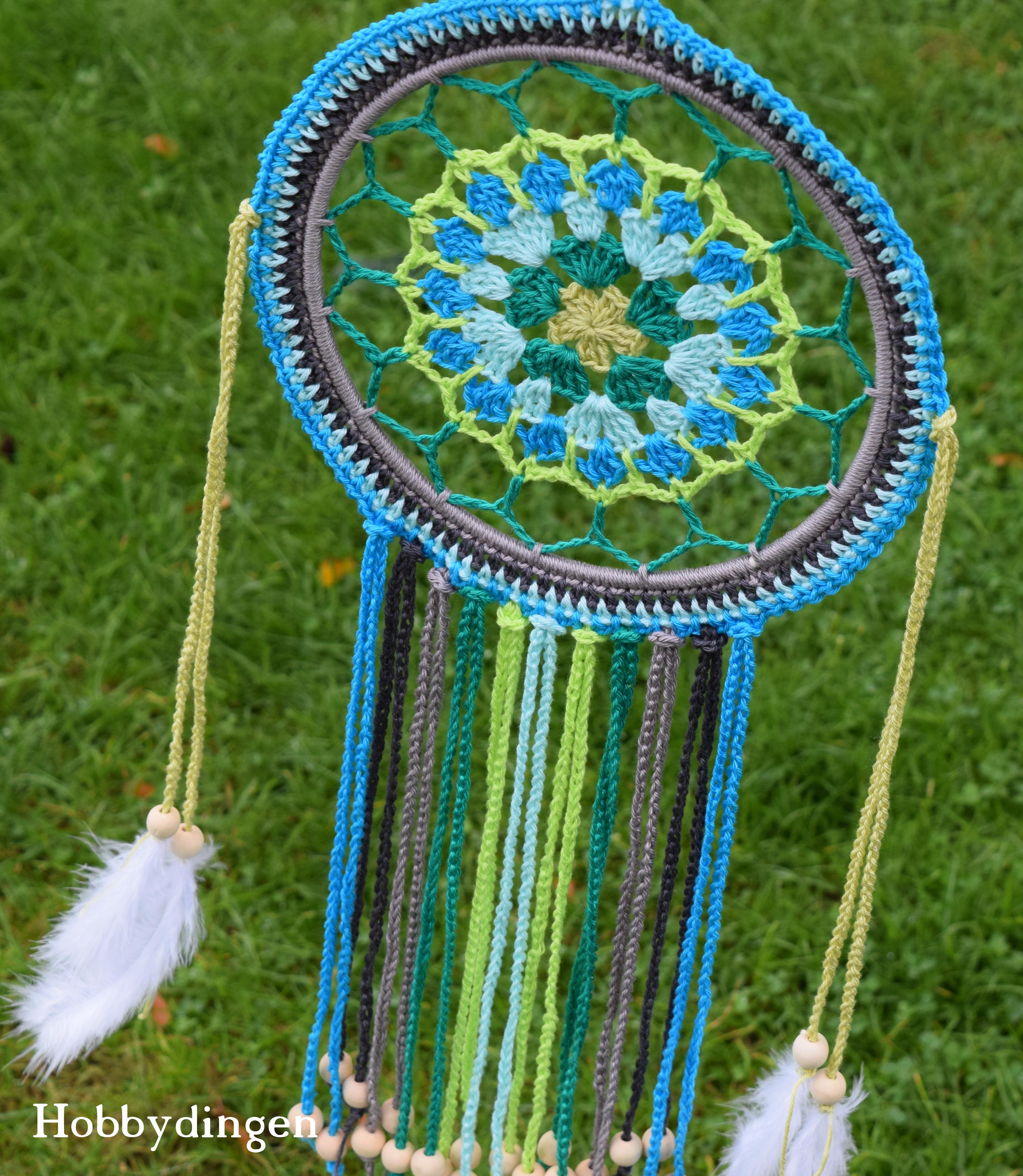 Hobbydingen.com - Blue and Green Dreamcatcher
