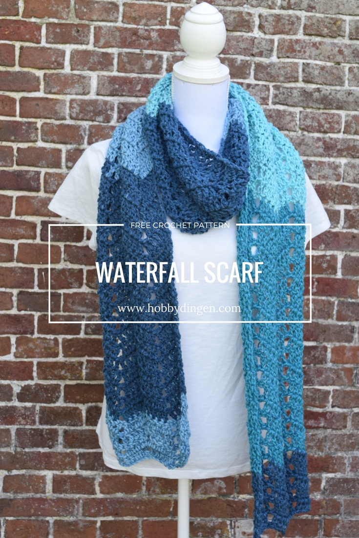 Free Crochet Pattern Scarf: The Waterfall Scarf