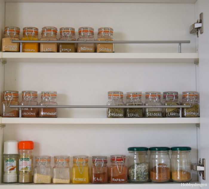 How To Organize Your Spice Rack - Hobbydingen.com