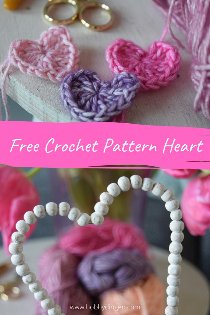 Free Crochet Pattern Valentine Heart - Hobbydingen.com