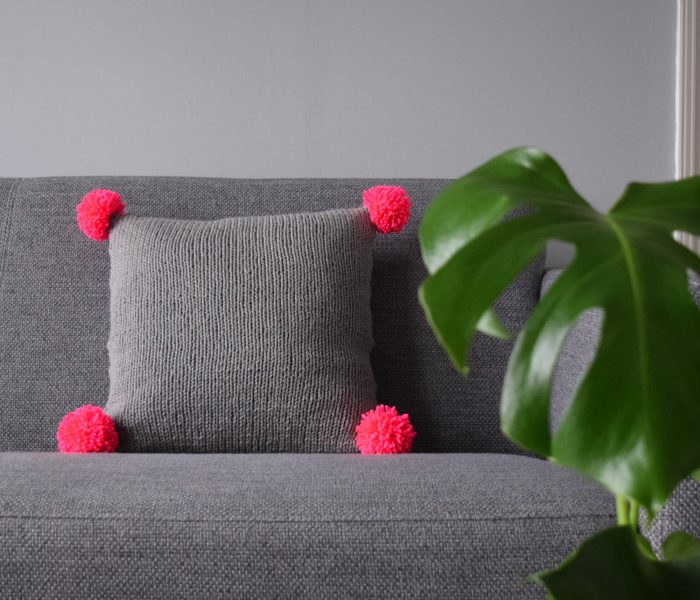 New Design: The Neon Pink Pompom Pillow
