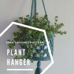 Free Crochet Pattern Plant Hanger - Hobbydingen.com