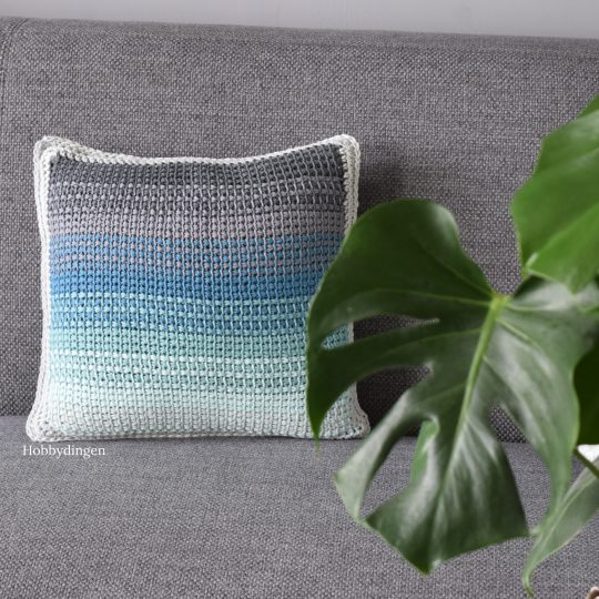 New Design: The Ombre Pillow – Tunisian Crochet Project