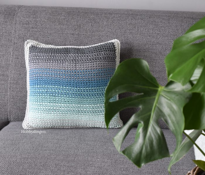 New Design: The Ombre Pillow – Tunisian Crochet Project