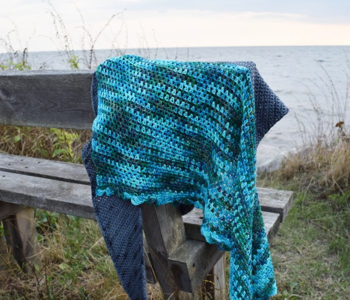 Crochet Pattern: Ocean Waves Shawl