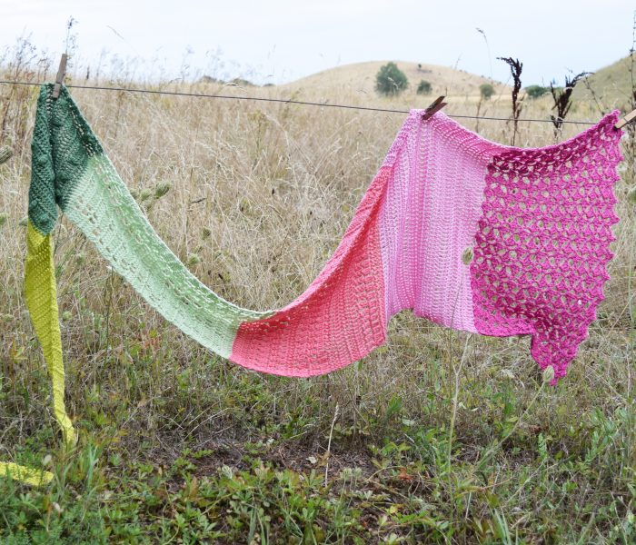 New Design: The Flower Fields Shawl