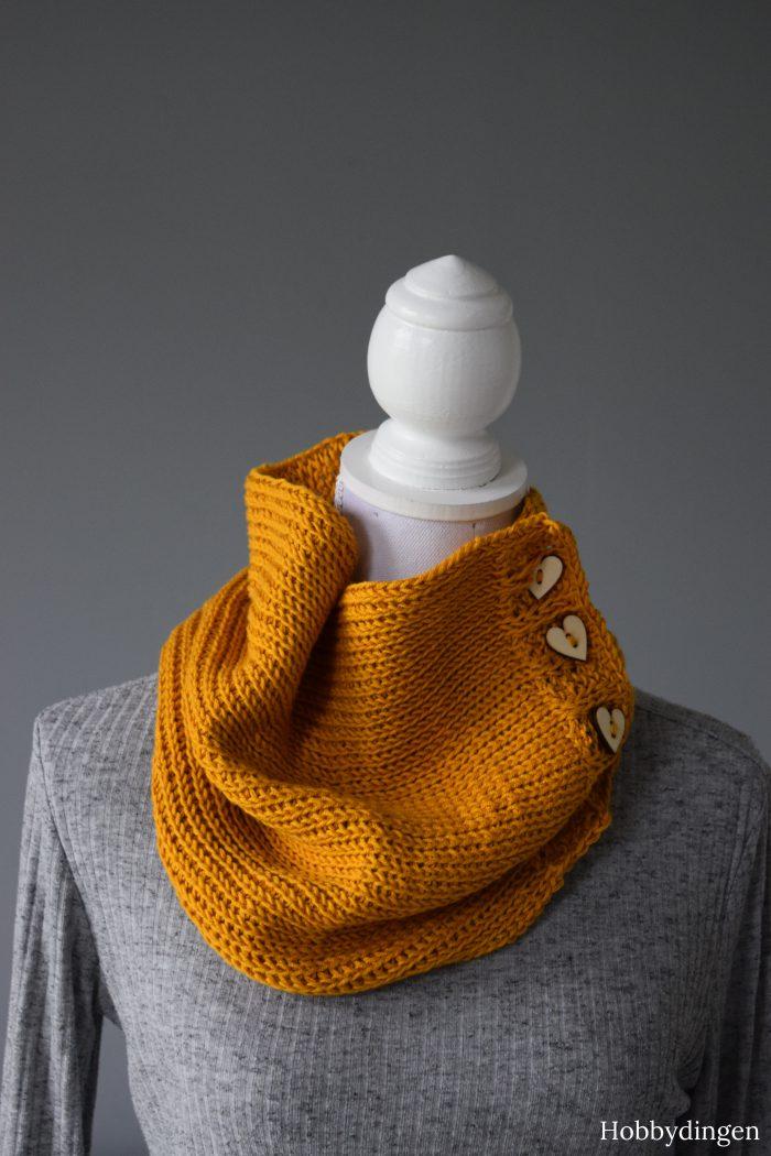 Tunisian Crochet Pattern Ruska Cowl - Hobbydingen.com