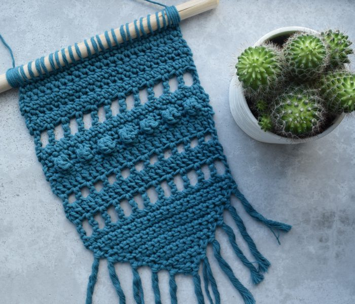 Free Crochet Pattern: Blue Wall Hanging