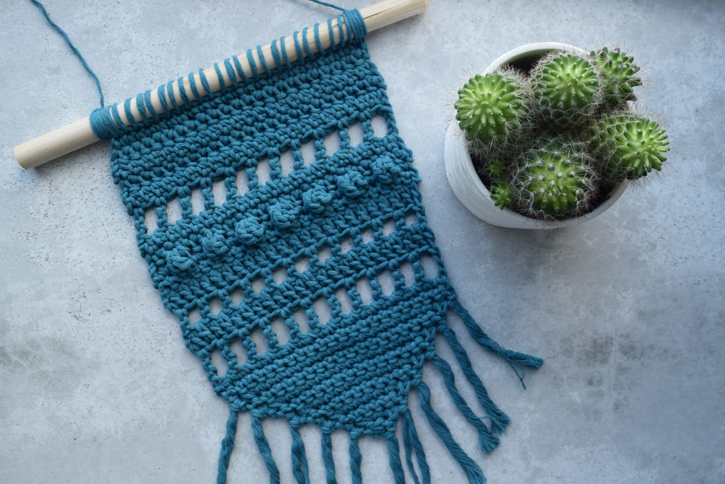 Free Crochet Pattern Wall Hanging - Hobbydingen.com