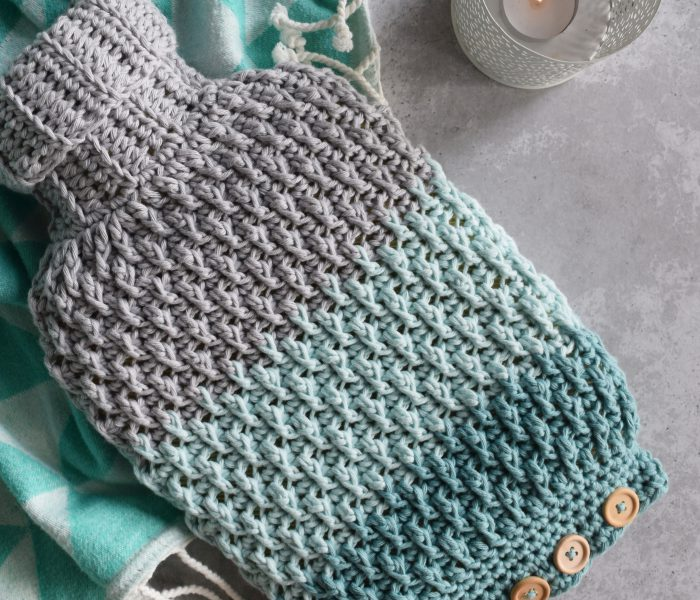 Crochet Pattern Cozy Hot Water Bottle Cover
