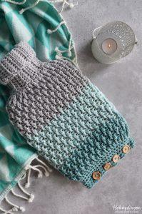 Crochet Pattern Cozy Hot Water Bottle Cover - Hobbydingen.com