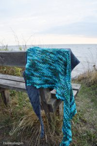 Crochet Pattern Ocean Waves Shawl - Hobbydingen.com