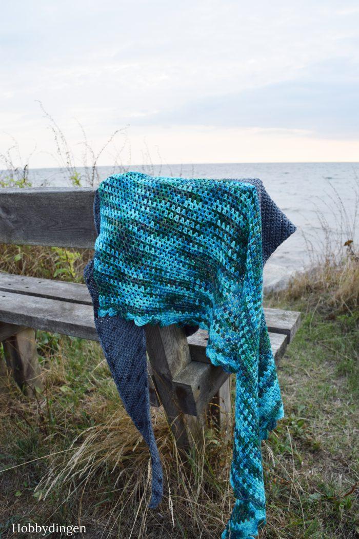 Crochet Pattern Ocean Waves Shawl - Hobbydingen.com
