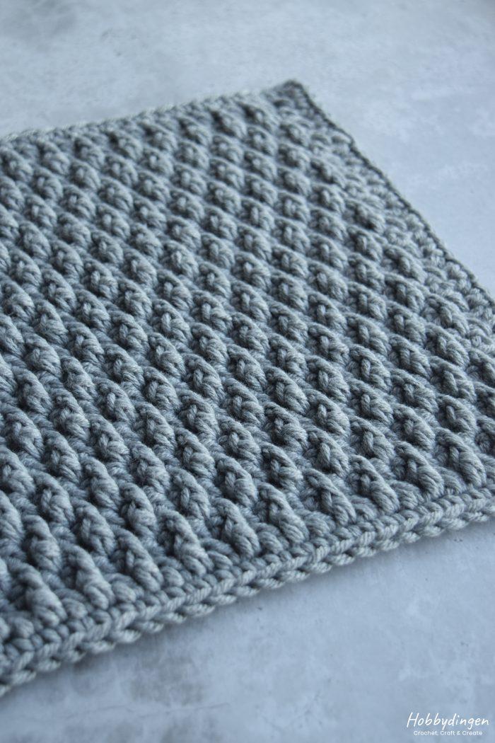 Crochet Pattern January Square - Year of Squares Crochet Along - Hobbydingen.com