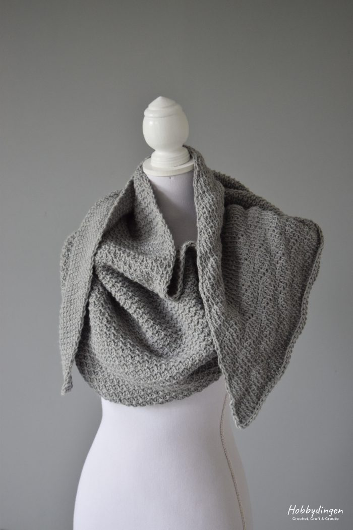 Tunisian Crochet Pattern Meraki Shawl - Hobbydingen.com