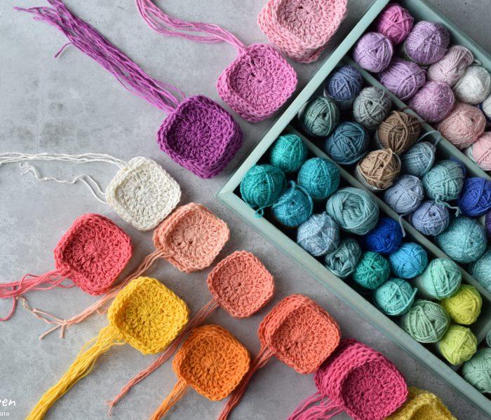 Kleurrijke Granny Squares Haken