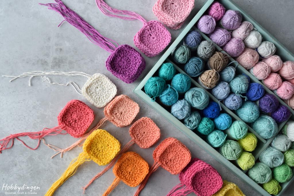Colorful Crochet Granny Square Project