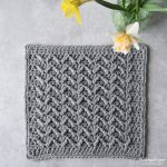 Crochet Pattern March Square Year of Squares Crochet Along. Make a blanket with 12 crocheted squares - Hobbydingen.com