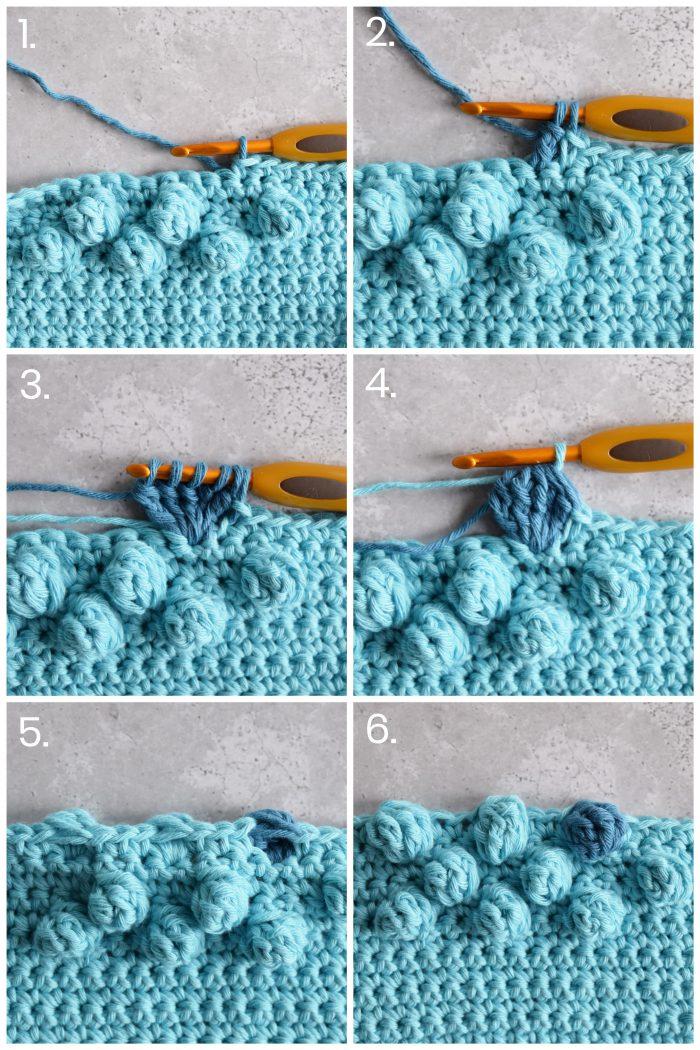How to crochet a bobble stitch - Hobbydingen.com