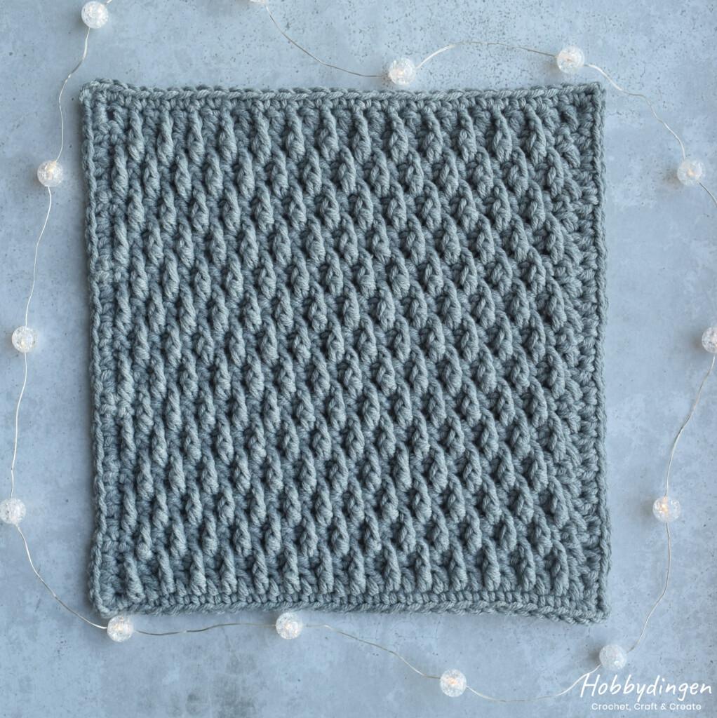 Crochet Pattern January Square - Year of Squares Blanket Crochet Along - Hobbydingen.com