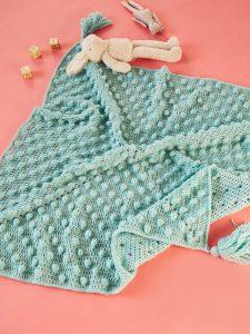 Crochet Pattern Bobbling Baby Blanket from Crochet Now issue 52 - Hobbydingen.com