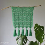 Crochet Pattern Autumn Waves Wall Hanging - Hobbydingen.com