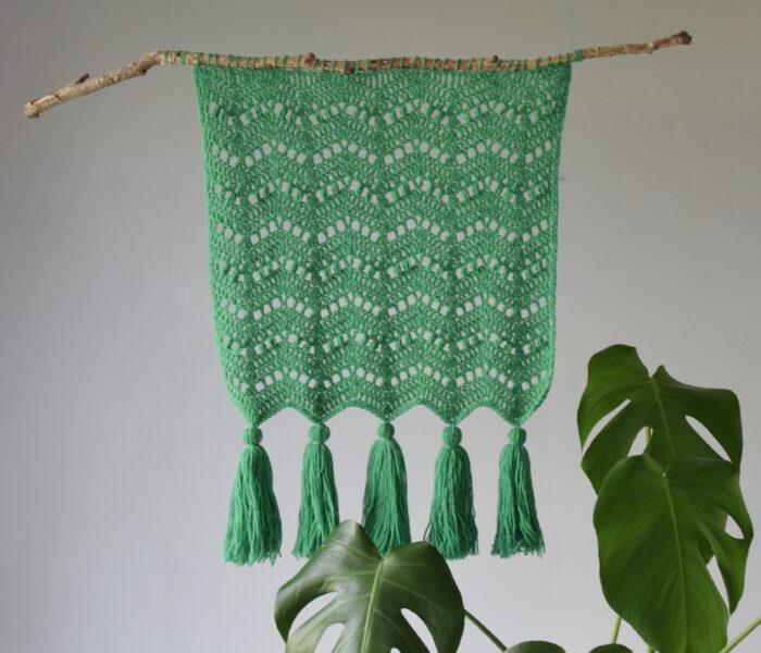 New Crochet Pattern Autumn Waves Wall Hanging