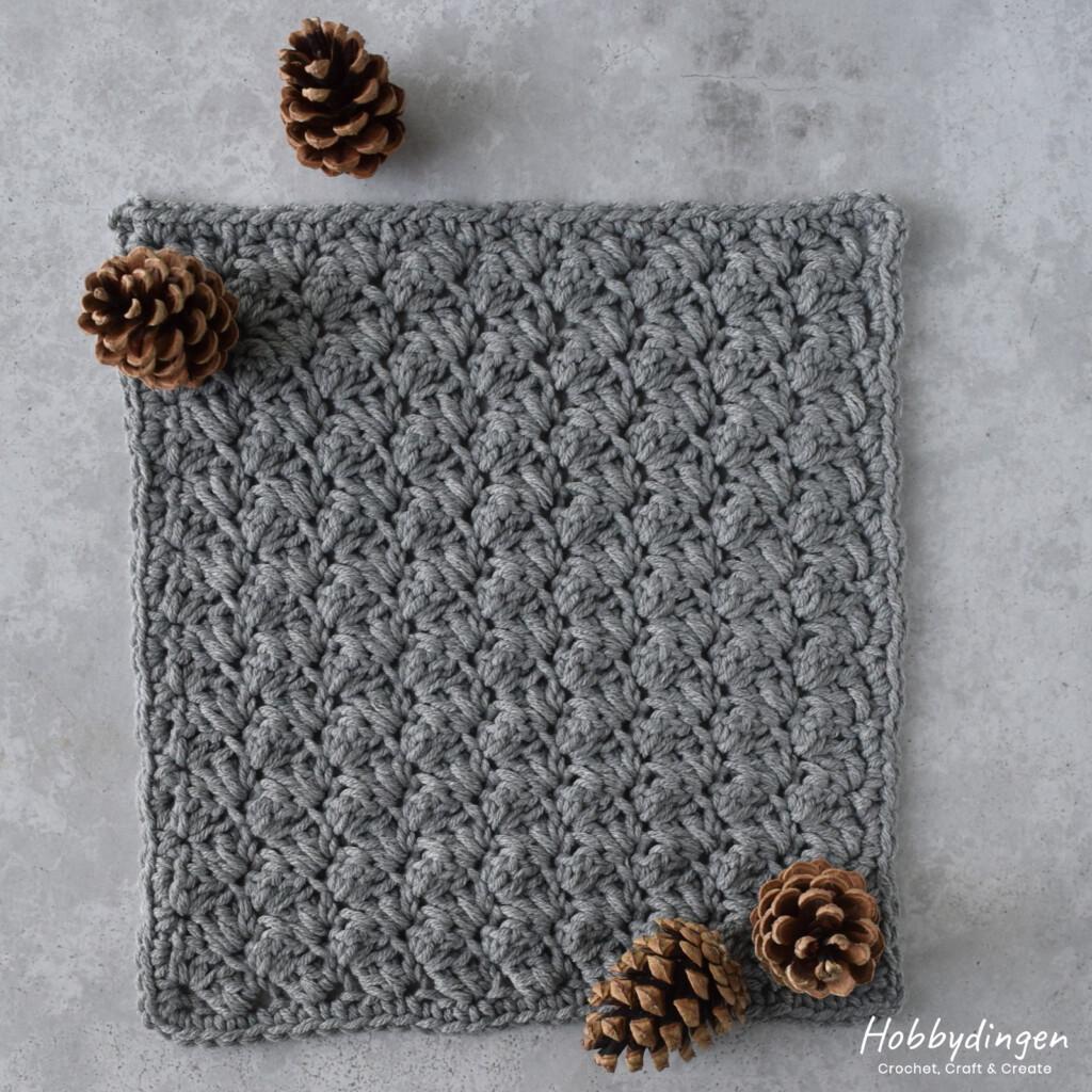 Haakpatroon Oktober Vierkant van de Year of Squares gehaakte deken crochet along - Hobbydingen.com