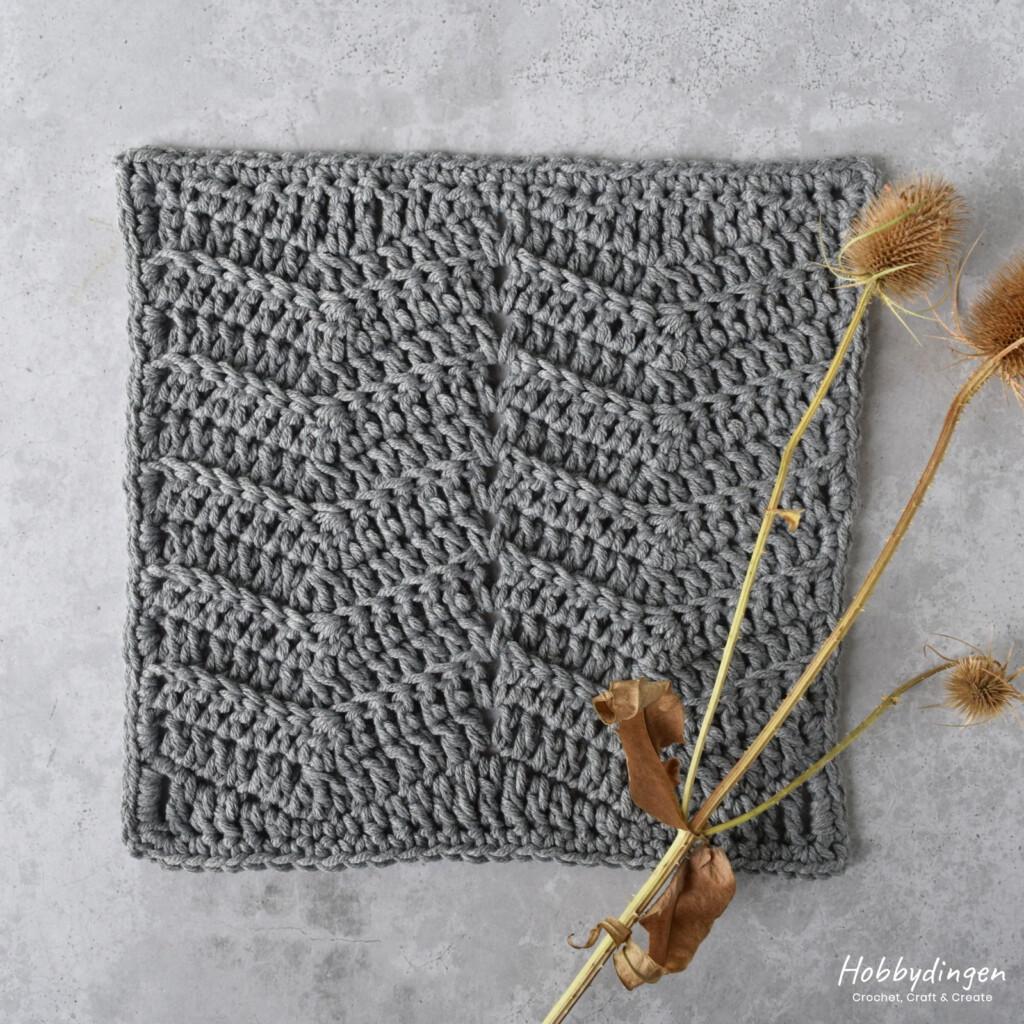Crochet Pattern September Square Year of Squares Blanket - Hobbydingen.com