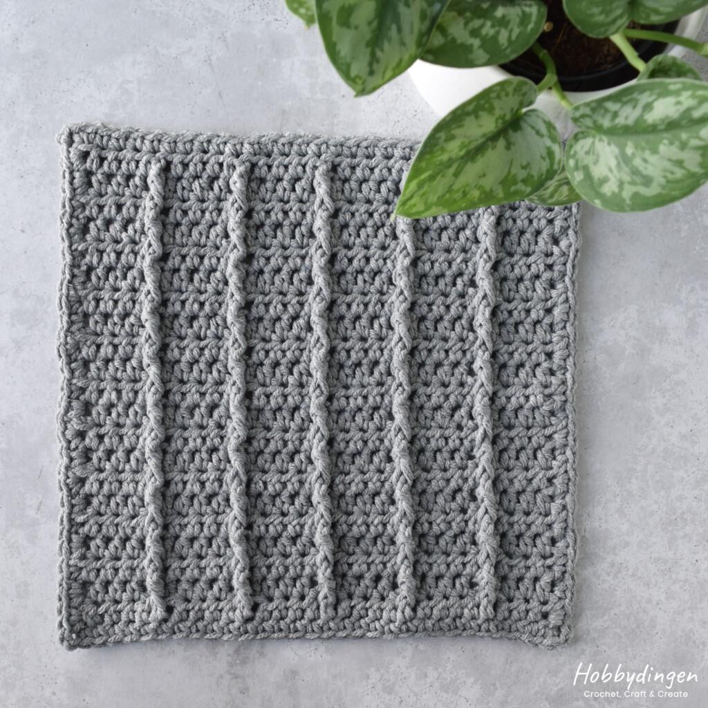 Crochet Pattern November Square for the Year of Squares Blanket Crochet Along - Hobbydingen.com