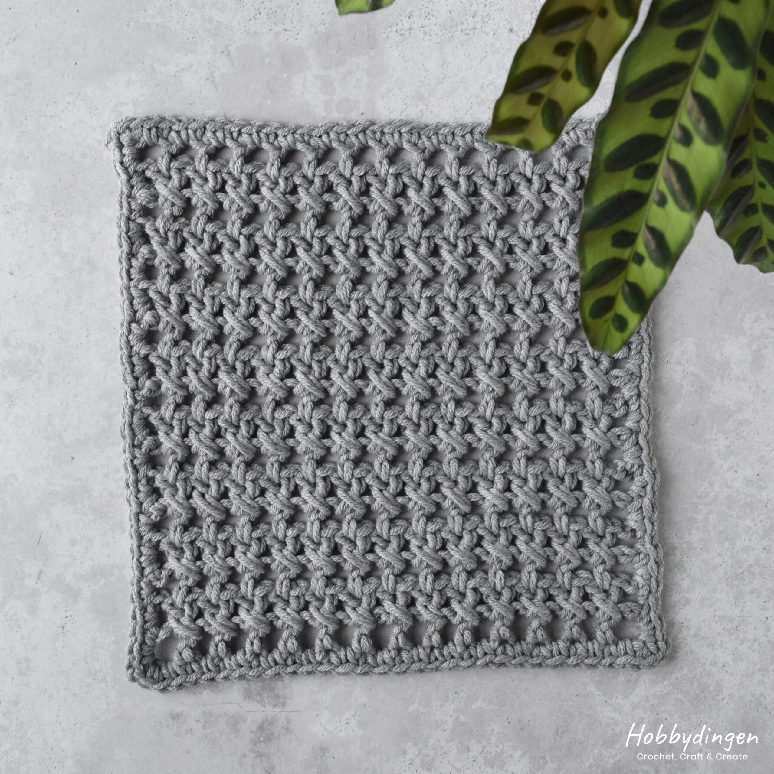 Crochet Pattern December Square Year of Squares Blanket crochet along - Hobbydingen.com