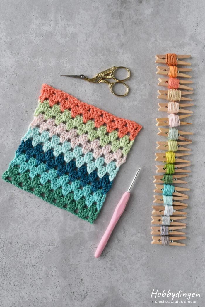 Crochet Pattern Temperature Blanket 2021 - Hobbydingen.com
