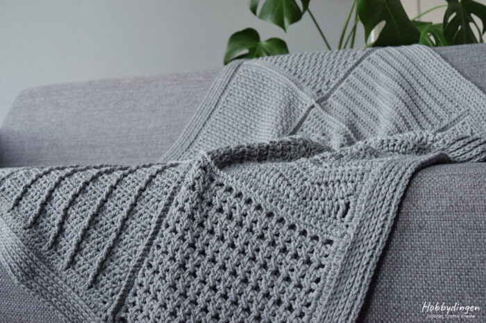 Close up Year of Squares Blanket crochet along - Hobbydingen.com