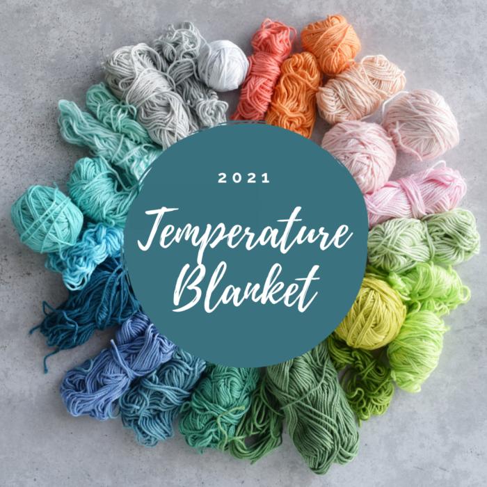 Rainbow Of Colors Crochet Temperature Blanket - Hobbydingen.com
