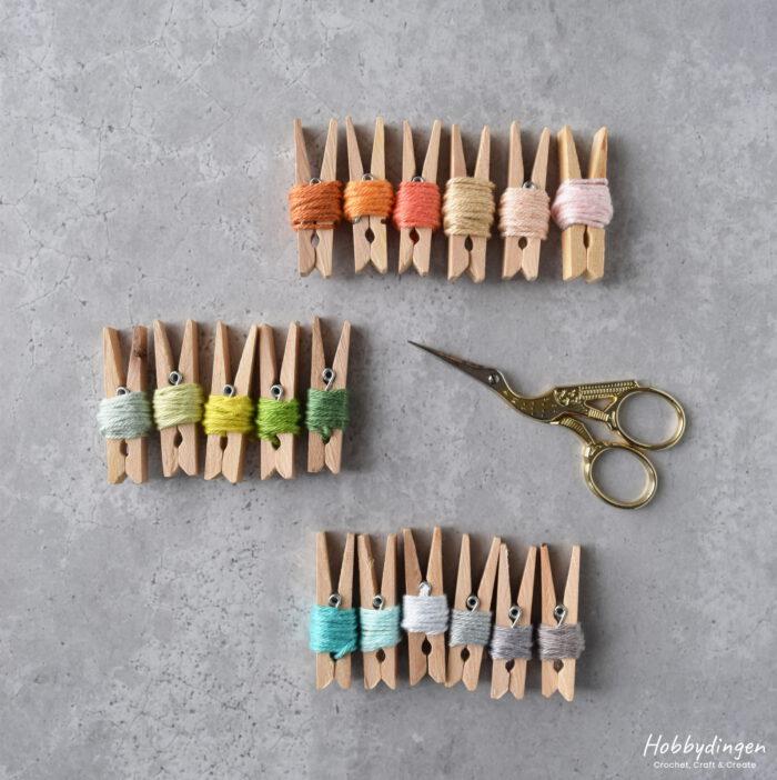 Kleuren garen voor een gehaakte temperatuurdeken - Hobbydingen.com