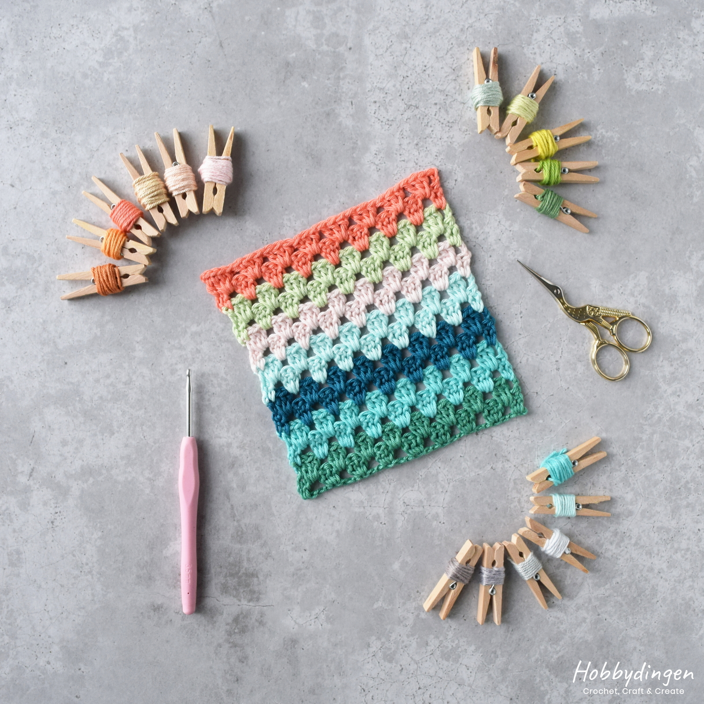 Yarn Colors Crochet Temperature Blanket 2021 - Hobbydingen