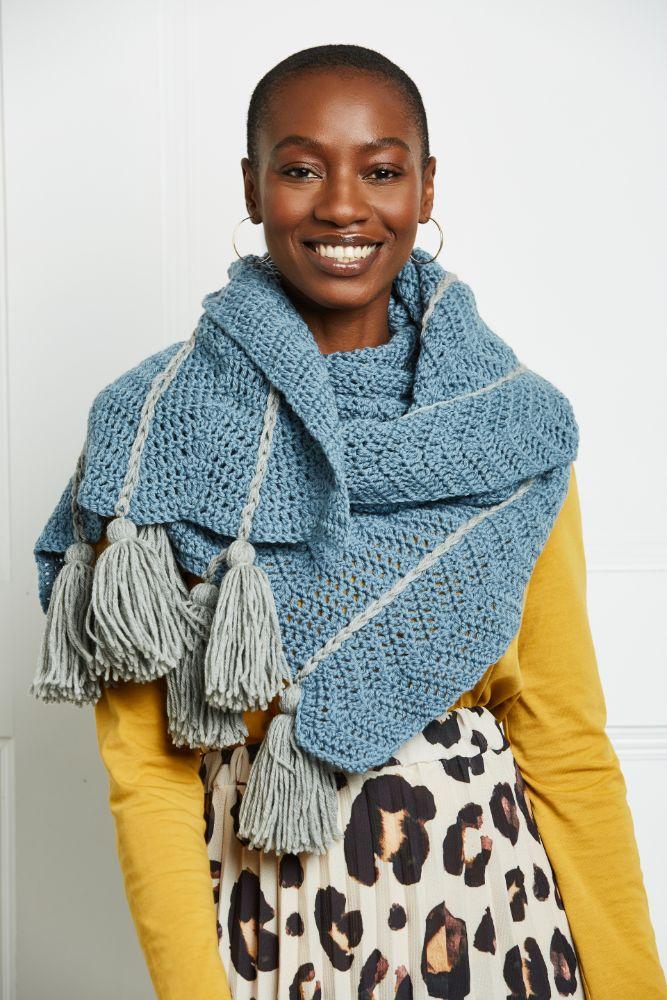 Crochet Pattern Windswept Winter Scarf Crochet Now magazine issue 64