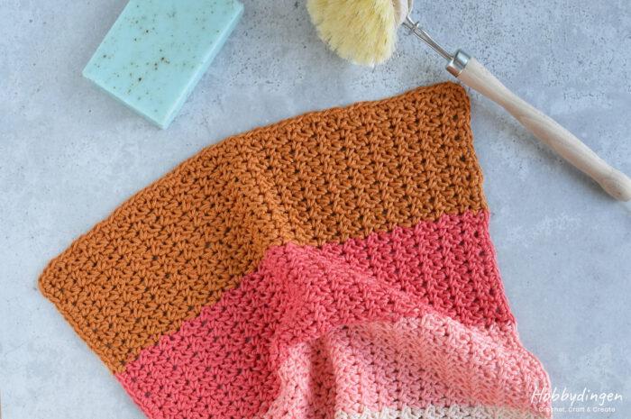Close up of colorful 'Sunshine Washcloth'