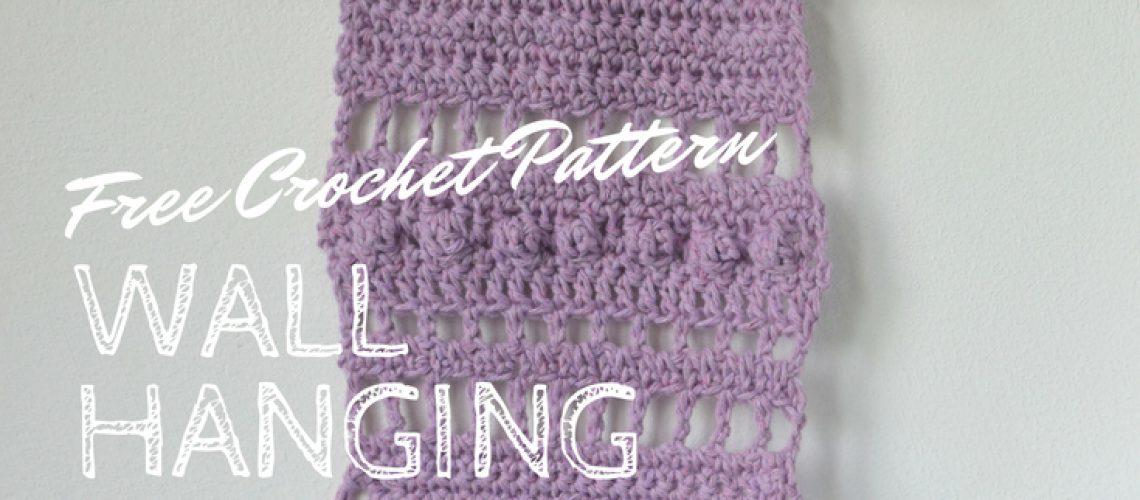 Free Crochet Pattern Small Purple Wall Hanging - Hobbydingen.com
