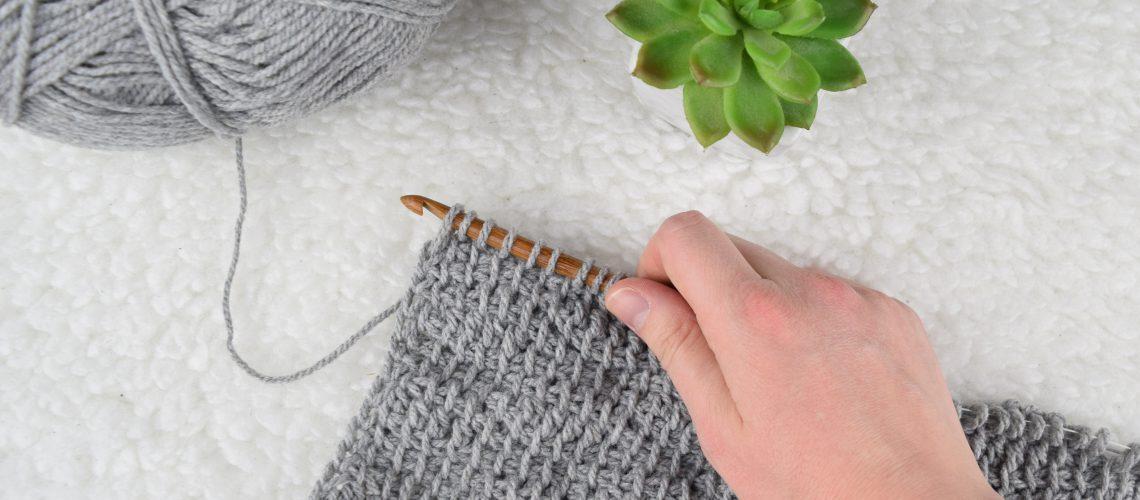 Crochet Pattern Tunisian Crochet Shawl - Hobbydingen.com