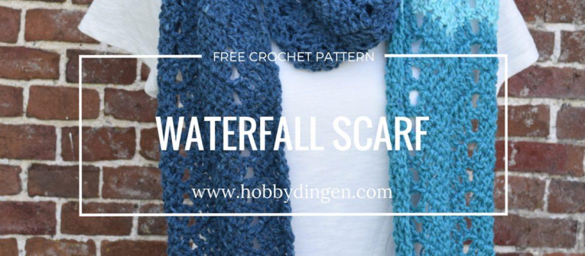 Free Crochet Pattern: Waterfall Scarf - Hobbydingen.com